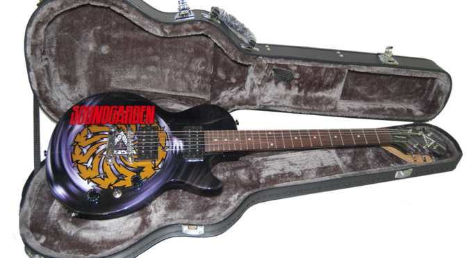 Soundgarden Autographed 25th Anniversary BADMOTORFINGER Guitar Fundraiser
