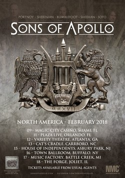 Sons Of Apollo Announces Firsts String of U.S. Shows As Part Of Word Tour