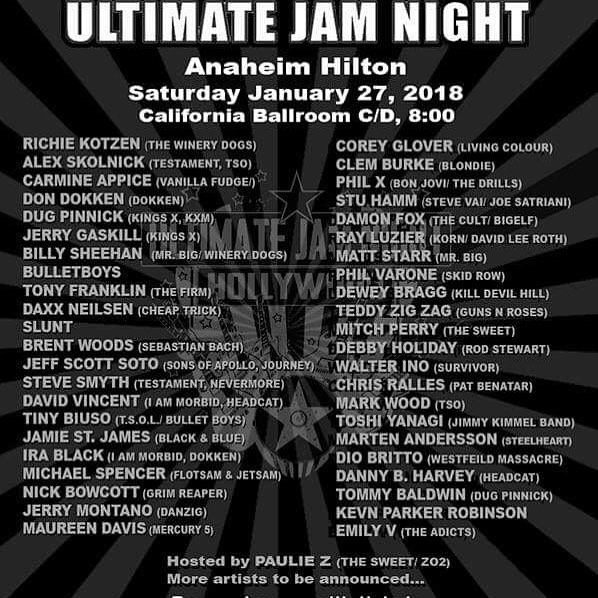 Ultimate Jam Night To Present Free Show At NAMM With Renowned Performers