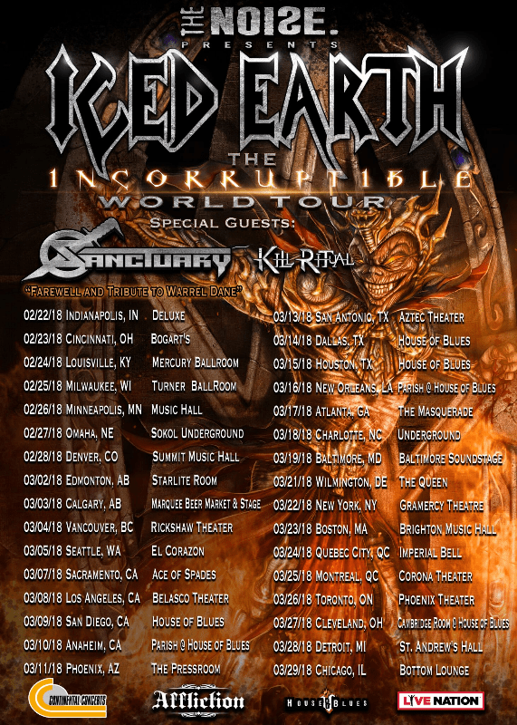 Sanctuary Tribute Upcoming Shows as Farewell to Warrel Dane; Announce Guest Vocalist