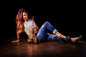 Rock Violinist Emily V Tearing It Up At NAMM 2018