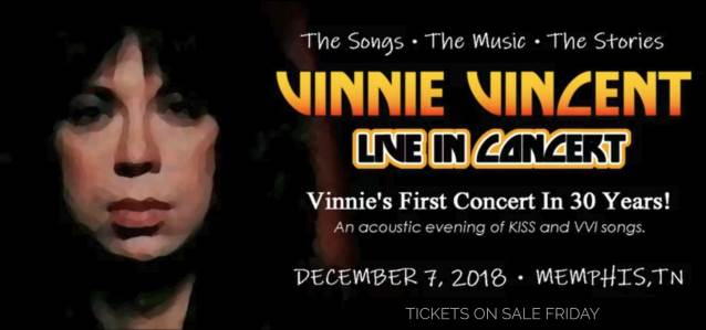 Vinnie Vincent Announces First Concert In 30 Years