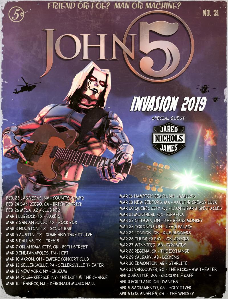 John 5 And The Creatures Announce New Album & Tour For 2019
