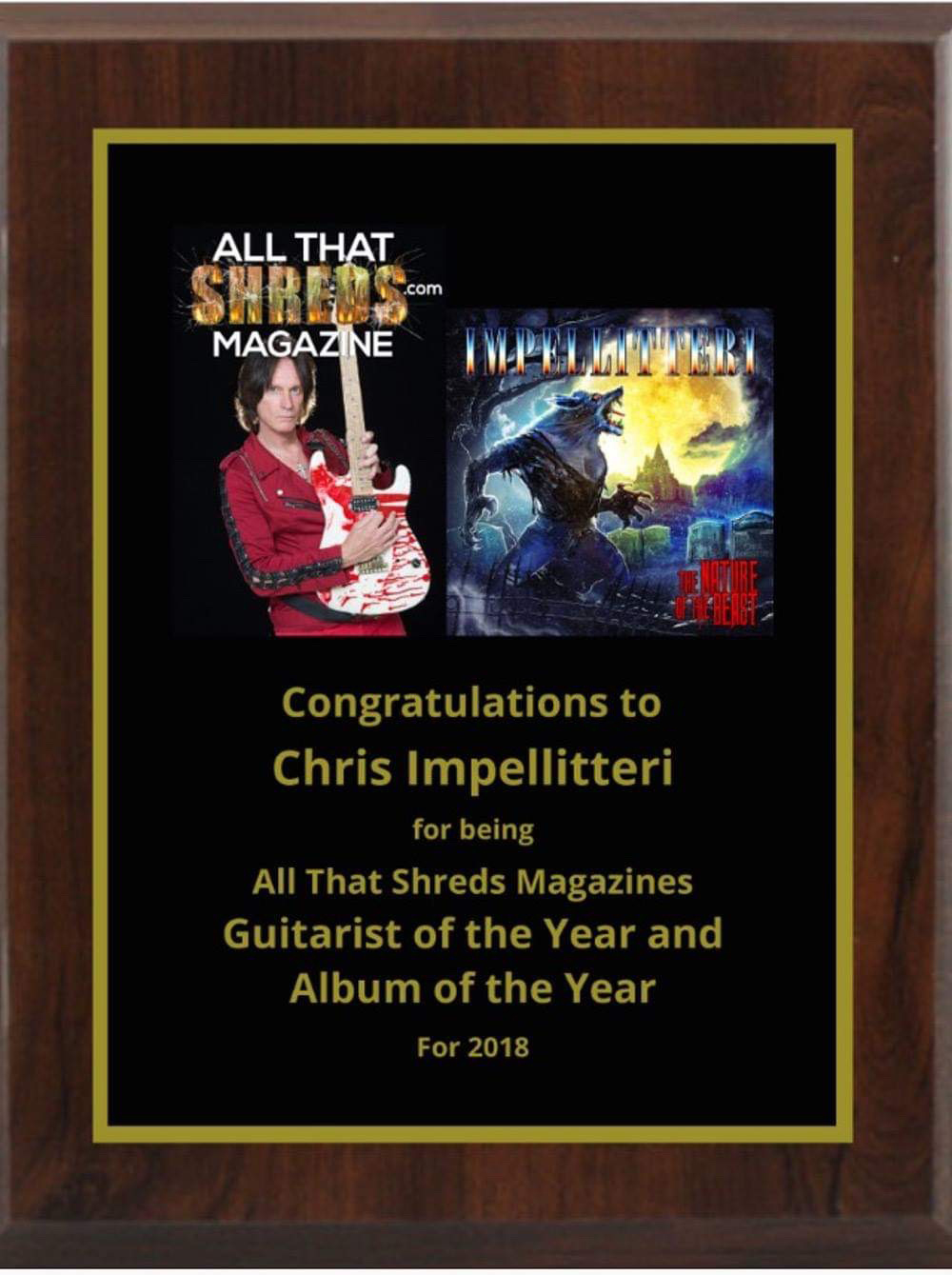 Chris Impellitteri:  All That Shreds Magazines Album & Guitarist Of The Year For 2018