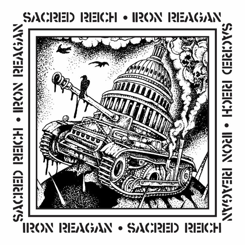"Sacred Reich Releases Limited Edition 7"" Vinyl Split With Iron Reagan, Featuring New Stand-Alone Track, ""Don't Do It Donnie"""