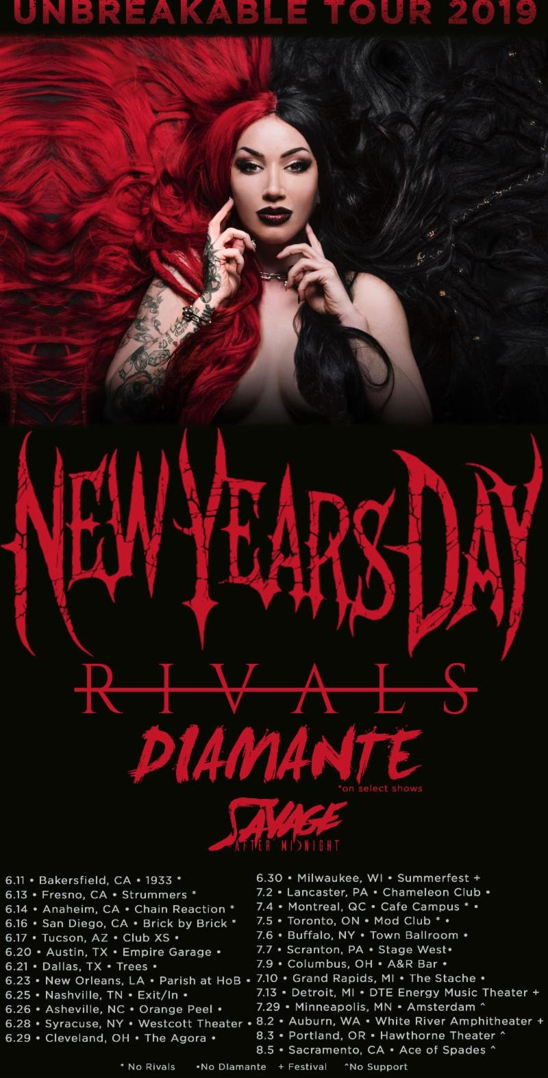New Years Day Announce Tour Dates With Godsmack