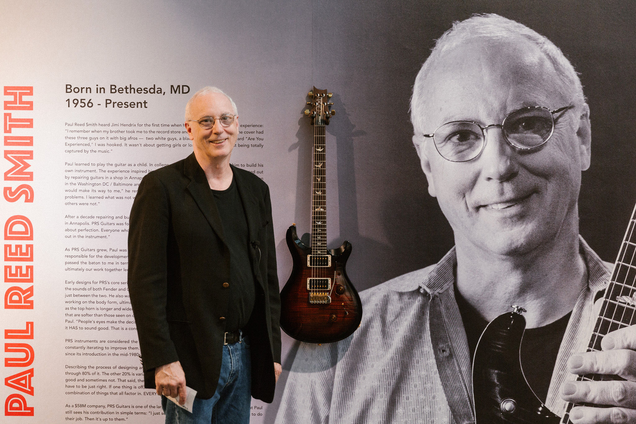 "PRS Guitars Helps Open Modas ""Wire & Wood: Designing Iconic Guitars"" Exhibition"