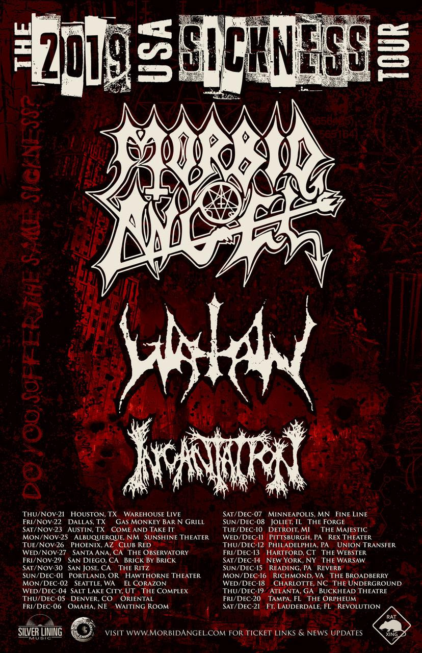 Morbid Angel Announce US Headlining Tour With Watain And Incantation