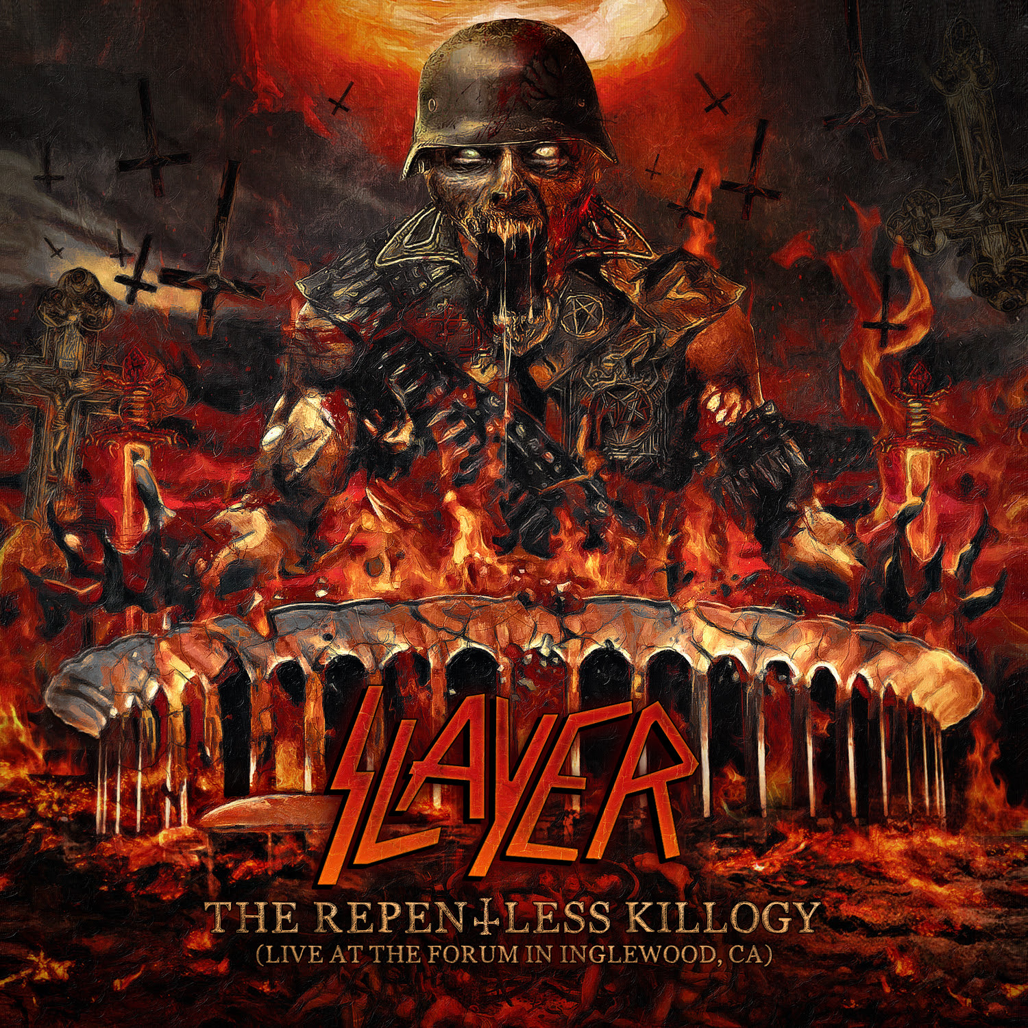 "Slayer Announces ""The Repentless Killogy"" Motion Picture And ""The Repentless Killogy, Live At The Forum In Inglewood, CA"" LP/CD"