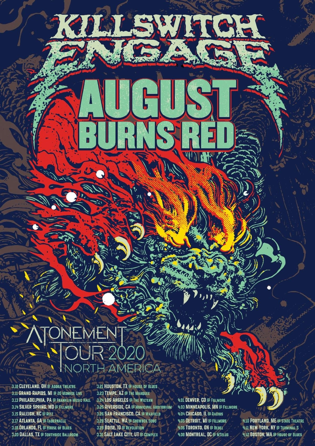 Killswitch Engage Announces Spring 2020 North American Tour With August Burns Red Opening