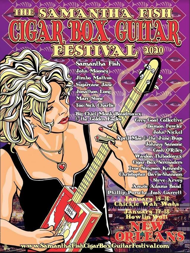 The Samantha Fish Cigar Box Guitar Festival - New Orleans 2020
