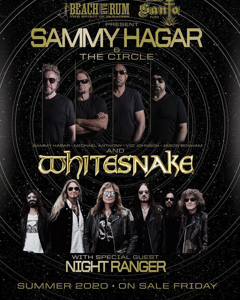 Sammy Hagar & The Circle Announces U.S. Tour With Whitesnake & Night Ranger
