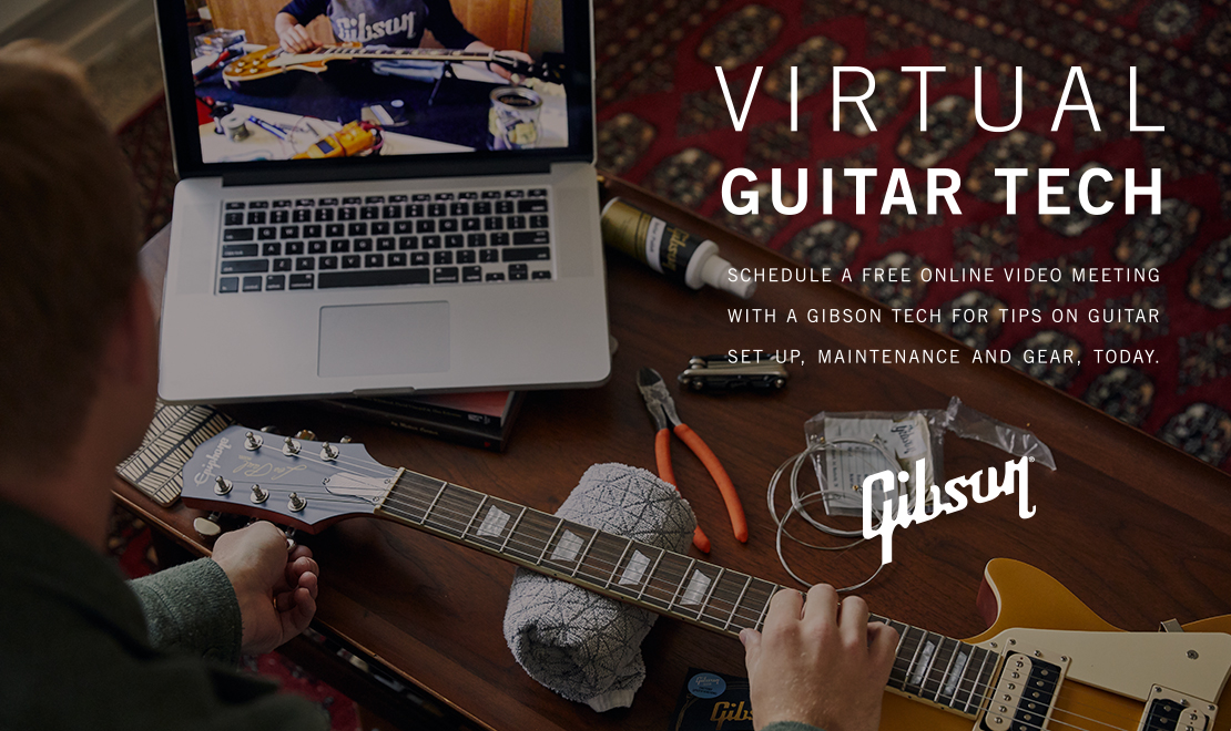 Gibson Virtual Guitar Tech Offering Free Guitar Tune-Up Service Launches Worldwide