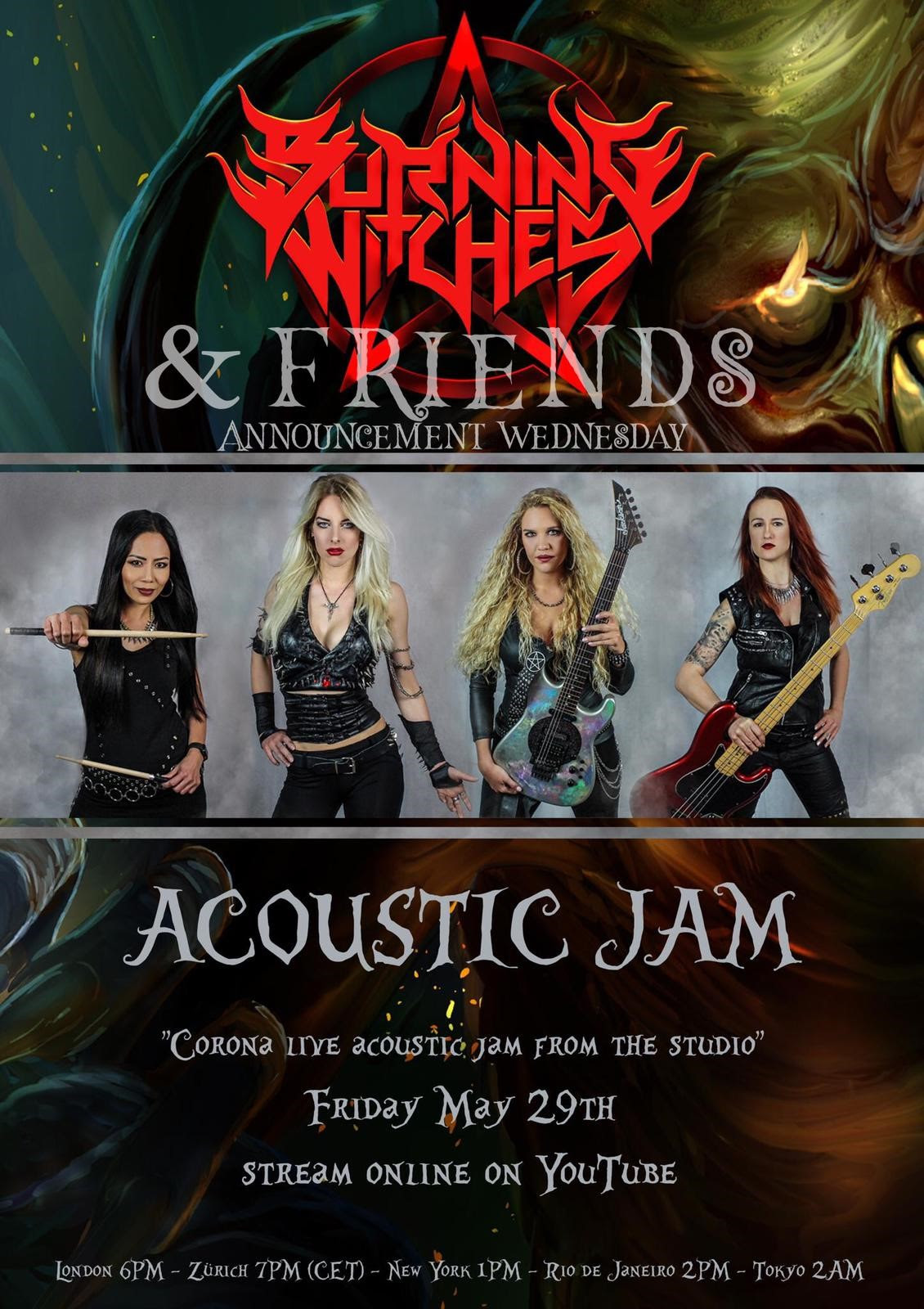 Burning Witches Announce Live Acoustical Jam With Courtney Cox And Others On 5/29