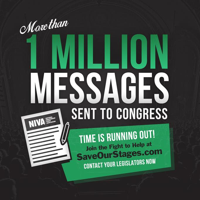 Music Industry Giants Urge Congress To Save Independent Live Music And Comedy Venues By Passing The RESTART Act