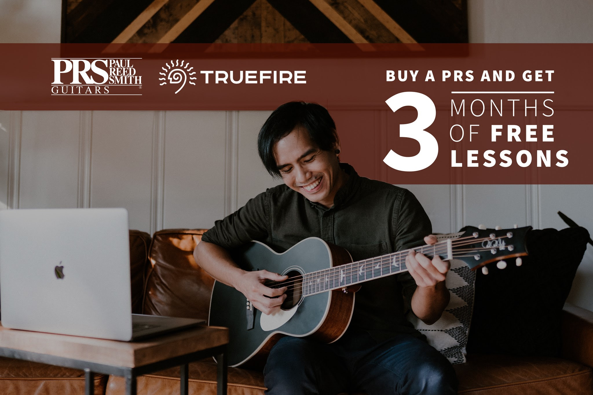 PRS Guitars & TrueFire Partner To Offer Free Online Guitar & Bass Lessons