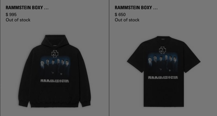 Rammstein Selling $1,000 Hoodies and More — Is Luxury Merch a Thing Now?