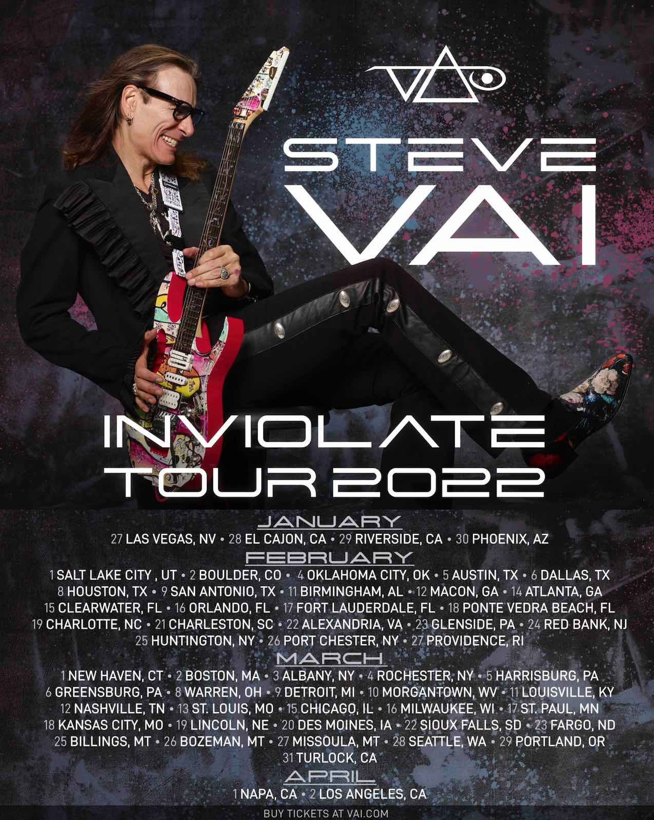 Steve Vai Announces 2022 U.S. Tour - New Music Coming